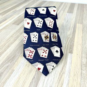 Josh Bach Novelty Tie Poker Vegas Casino Playing C